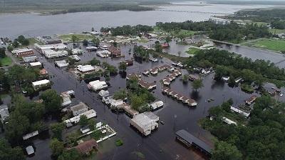 Powódź w Karolinie Północnej po huraganie Florence. Zdjęcie: Getty Images