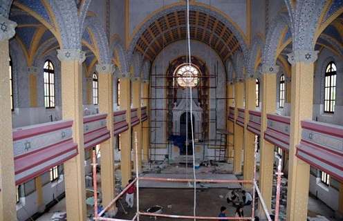 Wielka Synagoga w renowacji. Źródło: Cumhuriyet, Hurriyet, 22 listopada 2014.
