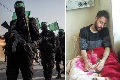 Mohammed Safi (po prawej) stracił wzrok, kiedy trzymano go w więzieniu Hamasu. Jego przestępstwo: uczestnictwo w demonstracji wzywającej do położenia kresu kryzysowi ekonomicznemu w Strefie Gazy i przeciwko nowym podatkom nałożonym przez Hamas. (Zdjęcia: Mohammed Safi - Ahmed Safi/Facebook; bojówkarze Hamasu - Chris McGrath/Getty Images)