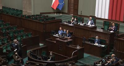 Wystąpienieposłanki Klaudii Jachiry w Sejmie 14 sierpnia 2020 (zrzut z ekranu)