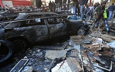 Beirut, zamach w dzielnicy szyickiej.