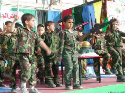 Finansowana i prowadzona przez ONZ szkoła dla biednych Palestyńczyków w Gazie.