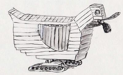 Rysunek Ewy Maziarskiej do książki Wojciecha Maziarskiego.