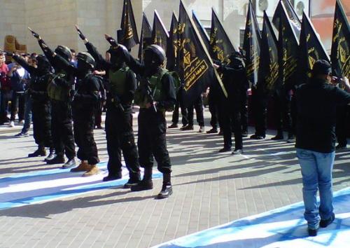 Wiec poparcia dla Islamskiego Dżihadu na uniwersytecie Al-Kuds w Jerozolimie Wschodniej w listopadzie 2013 r. (Z archiwum Matti Friedmana)