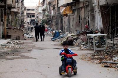 Miasto Homs w zachodniej Syrii