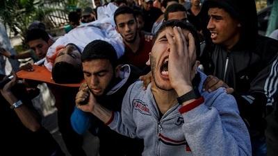 Niepotrzebne śmierci w poniedziałek są częścią kultury Nakby, wyznawanej przez Palestyńczyków już 70 lat (Zdjęcie: MCT)