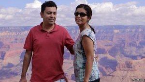 Dr Avijit Roy z żoną Rafidą. (Źródło: Facebook)