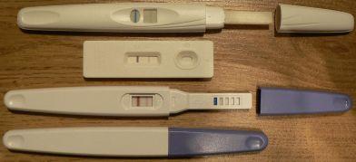 Testy ciążowe – wystarczy wizyta w łazience; domena publiczna