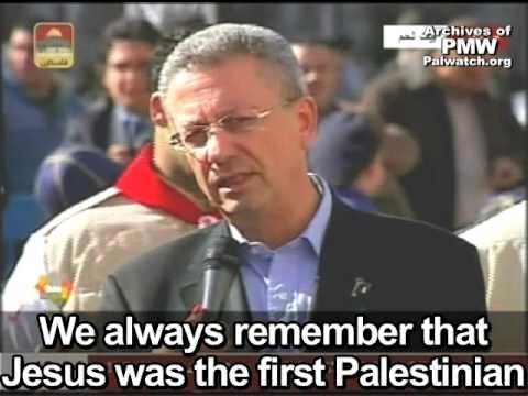 Poseł do parlamentu Autonomii Palestyńskiej, Mustafa Barghouti, telewizja Fatahu 2009.