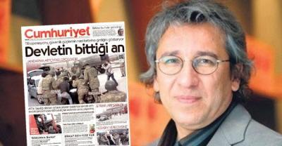 """Aresztowany 26 listopada 2015 Can Dundar, redaktor naczelny dziennika""""Cumhuriyet"""""""