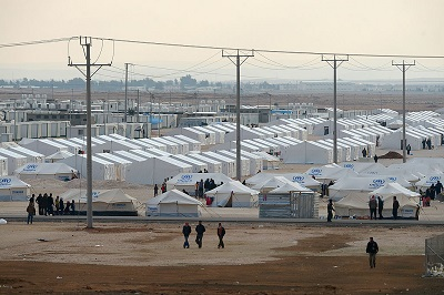 Na zdjęciu: obóz uchodźców Za'atari w Jordanii. (Zdjęcie: Jeff J Mitchell/Getty Images)