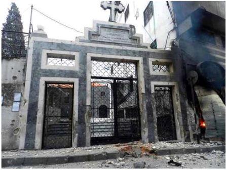 Brama kościoła Umm Al-Zenar w Homs (zdjęcie: dampress.net)