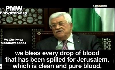 """Fala zamachów terrorystycznych na izraelskich policjantów i cywilów rozpoczęła się wkrótce po tym, jak prezydent Autonomii Palestyńskiej, Mahmoud Abbas, powiedział w 2015 roku, że Palestyńczycy nie pozwolą Żydom """"z ich brudnymi stopami bezcześcić naszego meczetu Al-Aksa"""" i """"Błogosławimy każda kroplę krwi, która została przelana dla Jerozolimy, która jest czystą i niepokalaną krwią, krwią przelaną dla Allaha...\"""