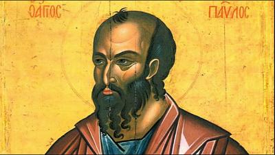 Śięty Paweł jak go sobie malarz wyobrażał.