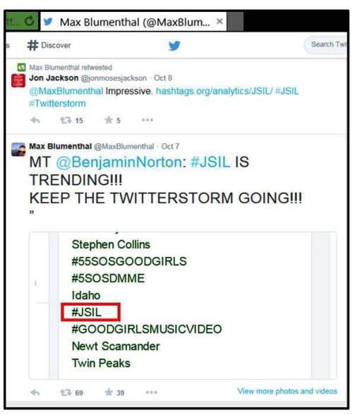 MT @Benjamin Norton: #JSIL JEST MODNY!!! UTRZYMAJ PĘD TEJ BURZY NA TWITTERZE