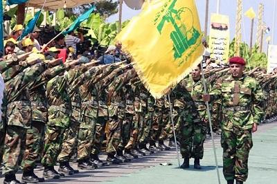 Jednostki Hezbollahu w Libanie.
