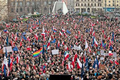 Demonstracja uprzywilejowanych w Poznaniu