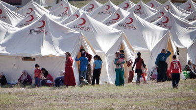 Uchodźcy syryjscy w Turcji.