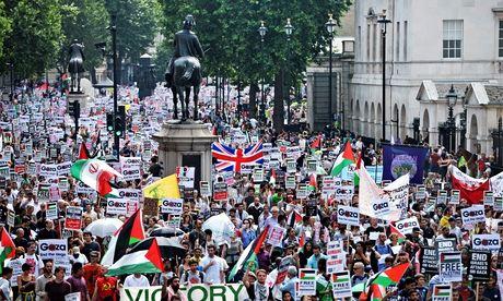 Demonstracja w Londynie. Demonstracja poparcia dla Palestyńczyków, dla Hamasu, czy dla wszelkiego terroru i przeciw demokracji?