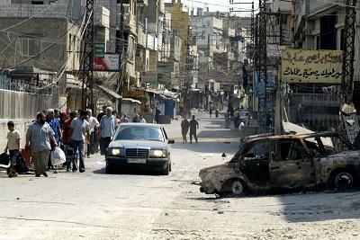 Wielu Libańczyków wyraziło niepokój wobec narastających protestów palestyńskich w ich kraju – szczególnie wobec tego, że demonstracje odbywają się obecnie poza palestyńskimi obozami dla uchodźców w Libanie. Na zdjęciu: obóz palestyńskich uchodźców Nahr al-Bared w Trypolisie w Libanie. (Zdjęcie: Salah Malkawi/Getty Images)