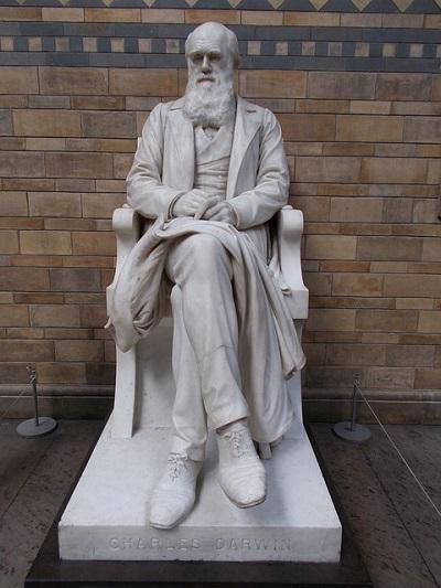 Pomnik Charlesa Darwina w Museum Historii Naturalnej w Londynie