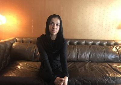 Nadia Murad przed wizytą w Jad Waszem (zdjęcie: SETH J. FRANTZMAN)