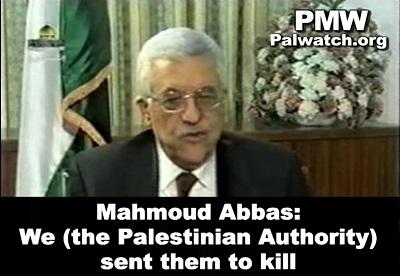 Wywiad udzielony telewizji Autonomii Palestyńskiej14 lutego 2005 roku. (Zdjęcie: Palestinian Media Watch)