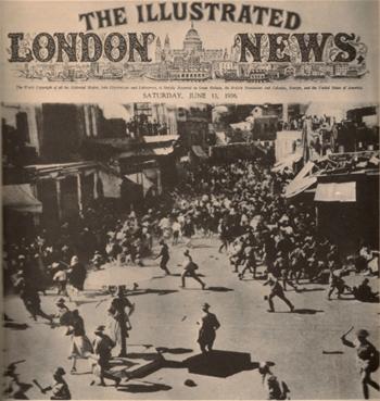 <span>Jaffa, Palestyna: początek rewolty arabskiej 1936 roku.</span>