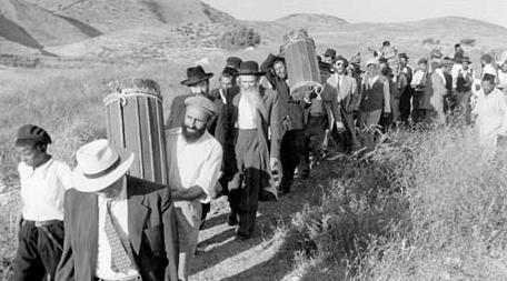 Uchodźcy żydowscy z obecnego Zachodniego Brzegu, po zajęciu Judei i Samarii przez wojska jordańskie. (Źródło: http://www.sullivan-county.com/islam/jewish_refugees.htm)