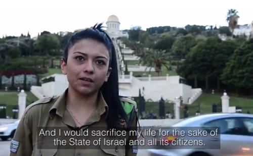 Mona Liza Abdo, jedna z licznych arabskich ochotniczek w izraelskiej armii.