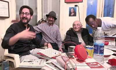 W redakcji wyd. Merit w Kairze. Pierwszy z lewej autor, drugi - Mohamed Hashem (Foto ze strony autora)