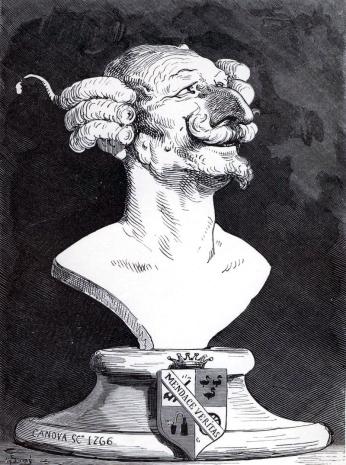 Gustave Doré, ilustracja przedstawiająca tytułowego barona; domena publiczna, za Wikipedią