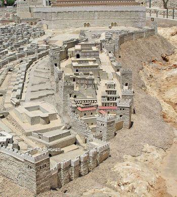 Model Miasta Dawida, tak jak wyglądało w epoce rzymskiej.