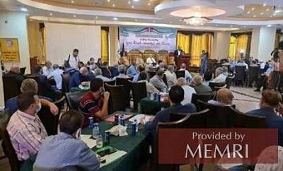 Konferencja Obietnica Życia Przyszłego sponsorowana przez Al-Sinwara (Źródło: Palsawa.com, 30 września 2021)