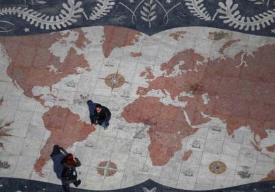Mapa świata na kafelkach. (zdjęcie: REUTERS)