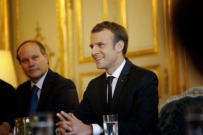 René Troccaz i jego mocodawca, prezydent Macron.