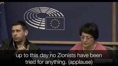 Leila Khaled w Parlamencie Europejskim, wrzesień 2017r.