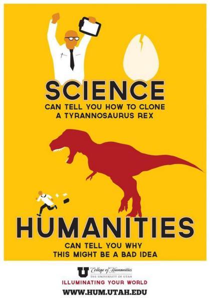 Nauka może powiedzieć ci, jak sklonować Tyranosaurus rex<br />Humanistyka może powiedzieć ci, dlaczego to może być zły pomysł.