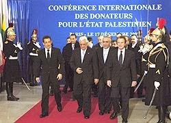 2007 r., konferencja darczyńców dla Palestyńczyków w Paryżu<br /> [Źródło]