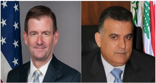 <br /> Ambasador USA w Libanie David Hale (po lewej) i dyrektor Dyrekcji Generalnej Bezpieczeństwa Libanu Abbas Ibrahim