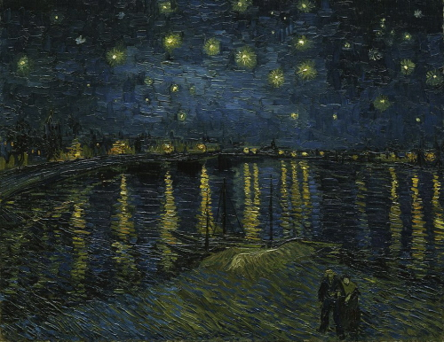 Gwiaździsta noc nad Rodanem, Vincent van Gogh; domena publiczna