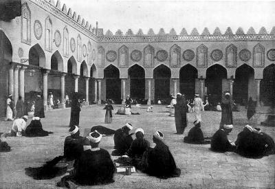 Dziedziniec najsłynniejszej muzułmańskiej uczelni, uniwersytetu al-Azhar w Kairze.