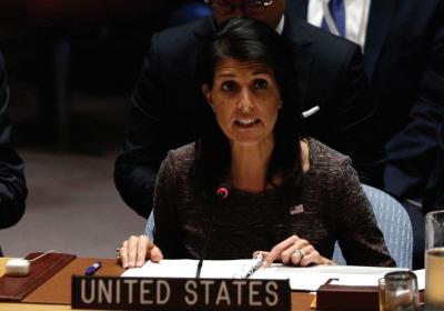 Nikki Haley na posiedzeniu Rady Praw Człowieka