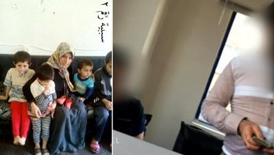 Reportaż niemieckiej telewizji ARD pokazuje zdjęcia jazydzkich niewolników rozprowadzane przez ISIS (po lewej), jak również potajemnie sfilmowanych agentów ISIS w Turcji, którzy przyjmują pieniądze na kupowanie niewolników (po prawej).