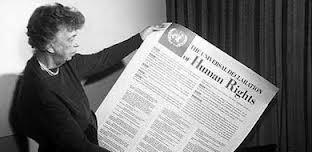 Eleanora Roosevelt z Powszechną deklaracją praw człowieka