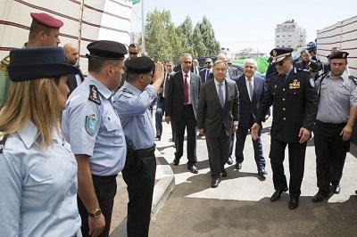 Sekretarz generalny ONZ Antonio Guterres podczas wizyty w Ramallah, 20 sierpnia 2017 r. (Zdjęcie: UN Photo/Ahed Izhiman)<br />
