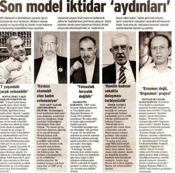 Od lewej do prawej: Nurettin Yildiz, Abdurrahman Dilipak, Omer Tugrul Inancer, Yusuf Kaplan