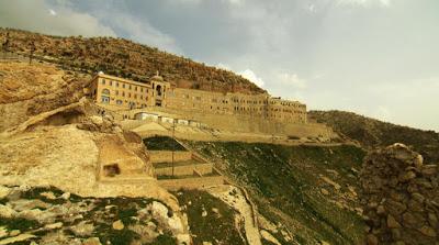 Klasztor św. Mateusza znajdujący się w odległości ok. 50 kilometrów od Mosulu.