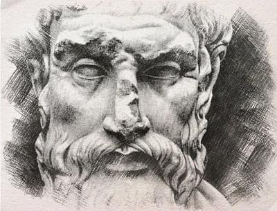 Rzeźba Epikura