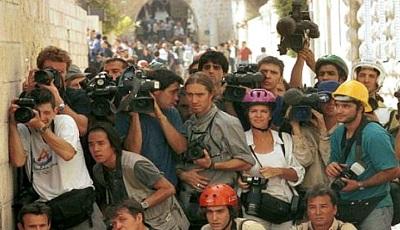 <span>Korespondenci zagraniczni pracują w Jerozolimie.</span>